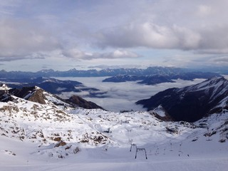 Alpen und wintersportregion in Österreich