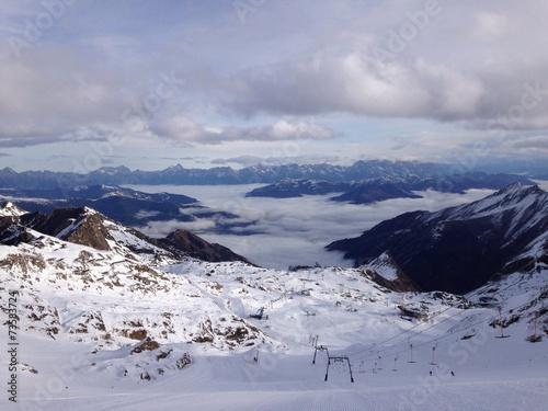 canvas print picture Alpen und wintersportregion in Österreich