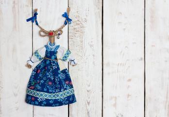 Handmade goat toy