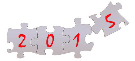 2015 год. Надпись на пазлах
