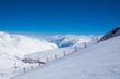 Ski piste for ski in mountains