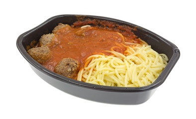 Spaghetti and meatball TV dinner