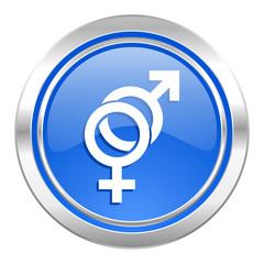 sex icon, blue button, gender sign