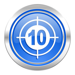 target icon, blue button