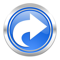 next icon, blue button, arrow sign