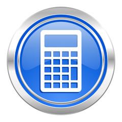 calculator icon, blue button