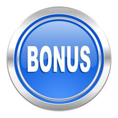 bonus icon, blue button