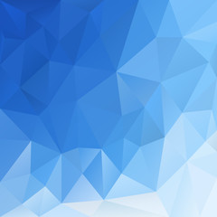 vector polygonal background triangular design in blue sky color