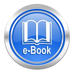 book icon, blue button, e-book sign