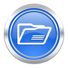 folder icon, blue button