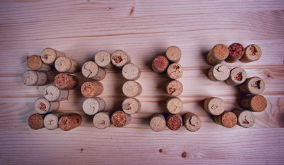 Wine corks closeup 2015