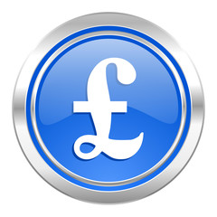 pound icon, blue button