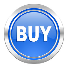 buy icon, blue button