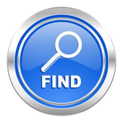 find icon, blue button