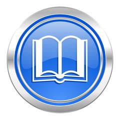 book icon, blue button