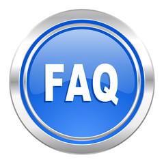 faq icon, blue button