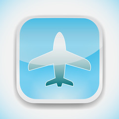 airplane vector icon logo