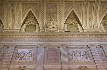 Beautiful ceiling inside the royals room of Reggia di Caserta