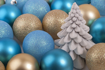 New-year balls and fir