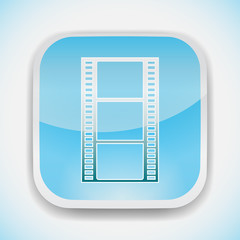 movie film strip vector icon