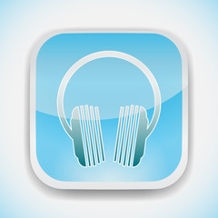 music headphones logo icon design