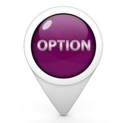 option pointer icon on white background