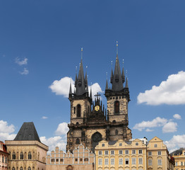 The gothic Church of Mother of God,Prague