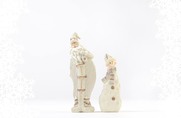 Santa Claus and snowman decoration