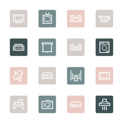 Home Appliance web icons set