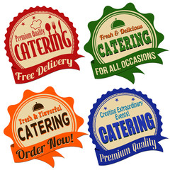 Catering label, sticker or stamps