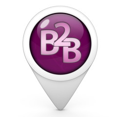 B2B pointer icon on white background