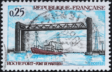 Timbre France Rochefort pont de Martrou