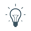 Simple light bulb icon. Vector illustration