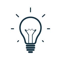 Simple light bulb icon. Vector illustration