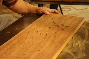 Malaysian Wood carving in progress