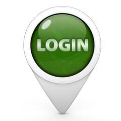 login pointer icon on white background