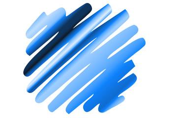 Zigzag-Streifen Punkt - hellblau