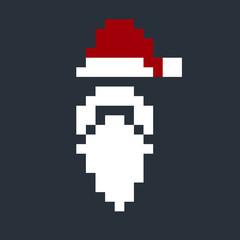 Pixel art Santa