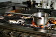 real dirty restaurant kitchen - 73591199