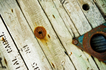 old dirty wooden texture with number label