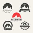 Vector set of emblems associated with mountains - 73592353