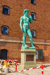 Copy of Michelangelo's David statue in Copenhagen, Denmark
