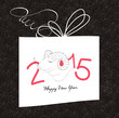 happy new year gift card with goat