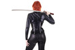 Leinwanddruck Bild - Sexy woman with katana