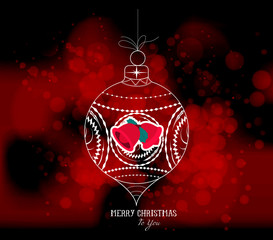 christmas ball light vector background