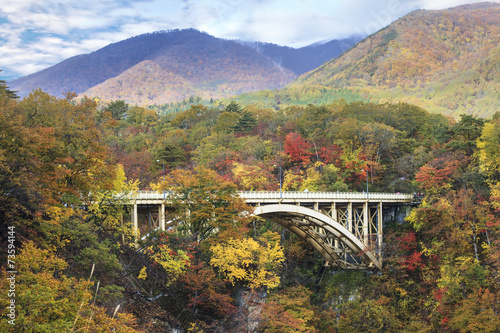 Autumn Colors of Naruko-Gorge in Japan - 73594144