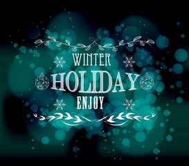 winter holiday enjoy light vector background