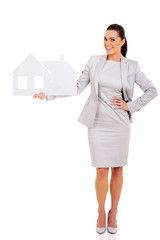 real estate agent holding paper house