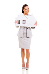 woman showing house symbol