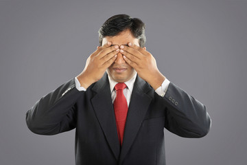Indian Businessman with Expression